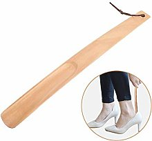 Vobajf Shoehorn Long Wood Handled Shoe Horn With