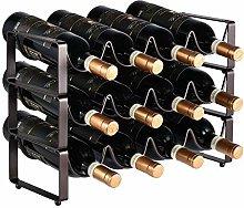 Vobajf Wine Racks Simple 3 Tier Stackable Wine