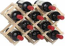 Vobajf Wine Racks Wooden Wine Rack Freestanding
