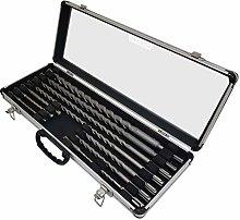 Voche® 11PC SDS+ Drill Bit Set in Aluminium Carry