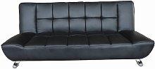 Vogue Faux Leather Black Sofa Bed