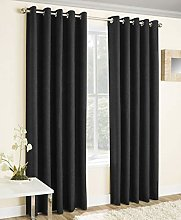 Vogue, Lined Eyelet Curtains, Ring Top, Thermal