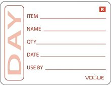 Vogue Prepped Food Labels 2in Removable