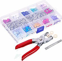Vogueing Tool 200Set Prong Pliers Ring Press Studs