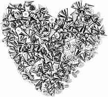 Vogueing Tool Spikes Punk, 100PCS Metal Spikes