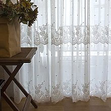 Voile Curtain Lace Jacquard Sheer Curtains, Eyelet