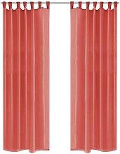 Voile Curtains 2 pcs 140x175 cm Red VD01457 -