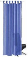 Voile Curtains 2 pcs 140x175 cm Royal Blue