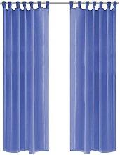 Voile Curtains 2 pcs 140x175 cm Royal Blue VD01451