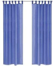 Voile Curtains 2 pcs 140x245 cm Royal Blue VD01453