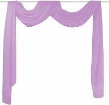 Voile Drape 140x600 cm Lilac QAH01460 - Hommoo