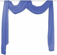 Voile Drape 140x600 cm Royal Blue QAH01461 - Hommoo