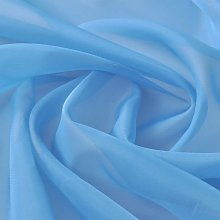 Voile Fabric 1.45 x 20 m Turquoise QAH00443