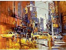 Voka New York 7th Avenue Acrylic Painting Art