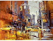 Voka New York 7th Avenue Acrylic Painting Premium