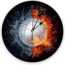 Volleyball Silent Non Ticking Wall Clock, Battery