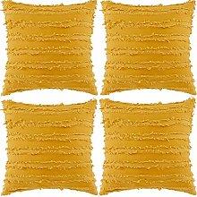 Volwassan Cotton Cushion Cover Set of 4 Tassels