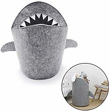 Volwco Large Storage Bucket Cartoon Shark Laundry