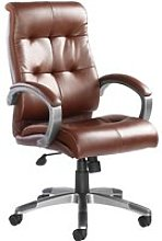 Vomero Leather Faced Executive Chair, Brown