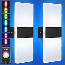 VOMI Alexa Smart Wall Lights Dimmable LED Wall