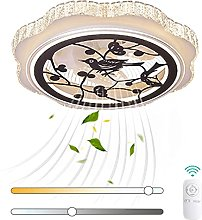 VOMI Crystal Ceiling Fan with Lights Dimmable