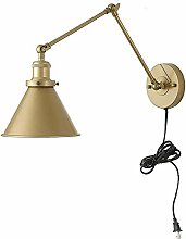 VOMI E27 Industrial Wall Lights with Plug Switch