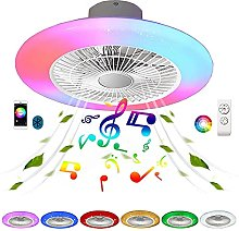 VOMI Flat Ceiling Fan with Lighting and Remote