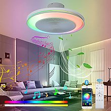 VOMI LED Dimmable Ceiling Fan with Lights RGB