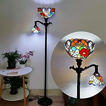 VOMI Tiffany Stained Floor Lamp 2 E27 Light