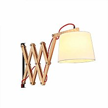 VOMI Wall Lamp Wood Oak Scissor Extendable