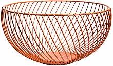 Vommpe 1x Large Capacity Fruit Baskets Round Iron