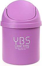 Vommpe Trash Bin Plastic Waste Bin Mini Dustbin