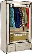 VonHaus Double Fabric Canvas Effect Wardrobe