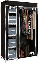 VonHaus Double Fabric Canvas Wardrobe –