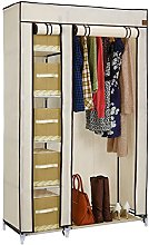 VonHaus Double Fabric Wardrobe – Canvas Effect