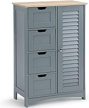 VonHaus Free Standing Bathroom Cabinet With 4