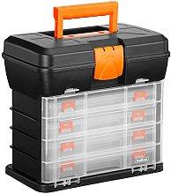 VonHaus Utility Tool Box Storage Organiser Case