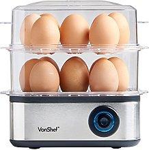 VonShef 3 in 1 Egg Boiler, Poacher and Omelette