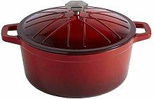 VonShef Casserole Dish with Lid Cast Iron 6.4L –