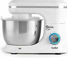 VonShef Cream Food Mixer - Stand Mixer with 8