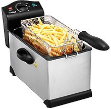 VonShef Deep Fat Fryer- Stainless Steel 3L Fryer