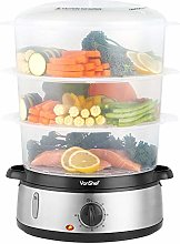 VonShef Food Steamer Electric with 3 Removable