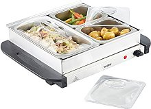 VonShef Food Warmer - 3 Pan Buffet Server and Hot