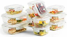 VonShef Glass Food Storage Containers with