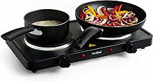 VonShef Hot Plate, Portable and Compact Electric