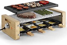 VonShef Raclette Grill Electric with 8 Mini Pans,