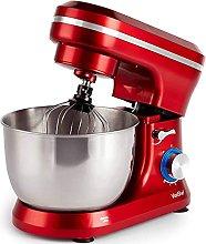 VonShef Red Food Mixer - 8 Speed 1000W Stand Mixer