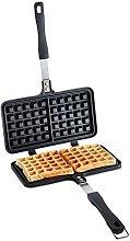 VonShef Stove Top Waffle Iron - Die-Cast Aluminium