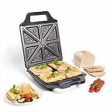 VonShef Toastie Maker- Compact, Deep Fill, 4 Slice