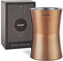 VonShef Wine Cooler Bottle Holder - Copper
